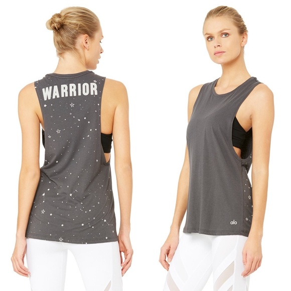 88797a634b9af ALO Yoga Anthro Tidal Muscle WARRIOR Tank Tee Acti